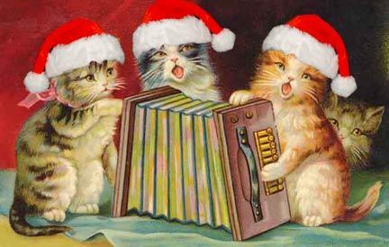Musical xmas cats
