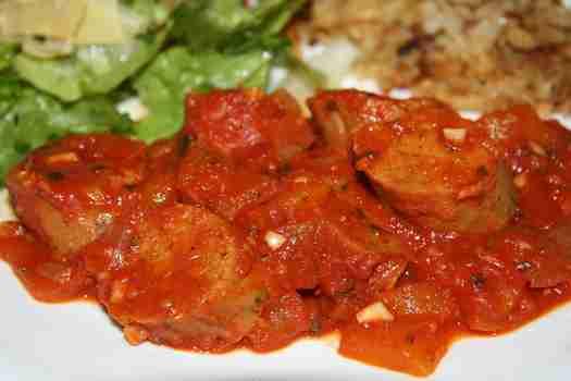 Italian veggie sausage & peppers
