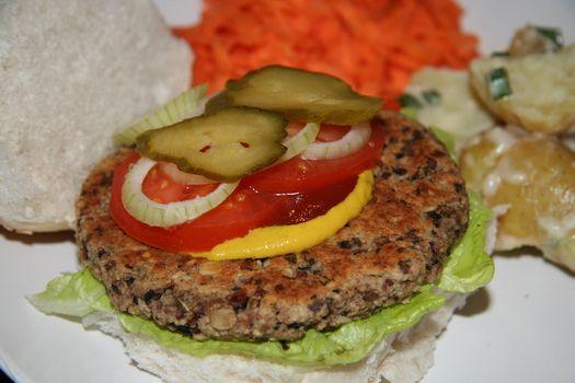 Savoury veggie burgers