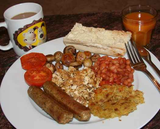Full English breakfast, vegan style