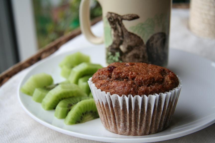 Vegan cranberry bran muffins