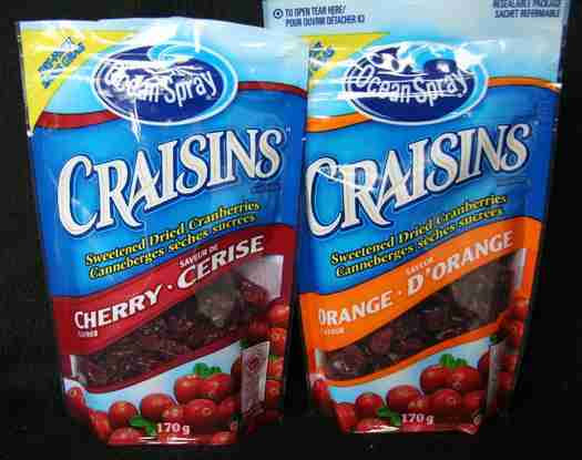 Craisins flavoured cranberries