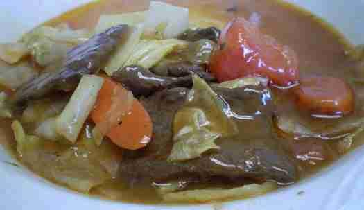 Peking veggie beef hotpot