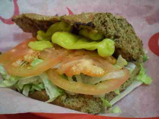 Veggie sub at Quiznos