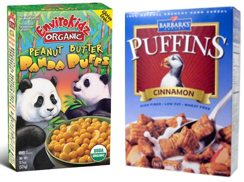 Envirokidz Panda Puffs and Barbara's Cinnamon Puffins