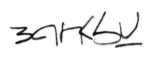 Banksy tag