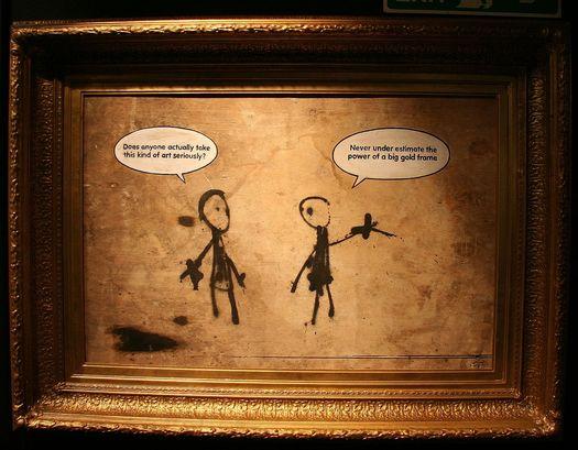Banksy - big gold frame