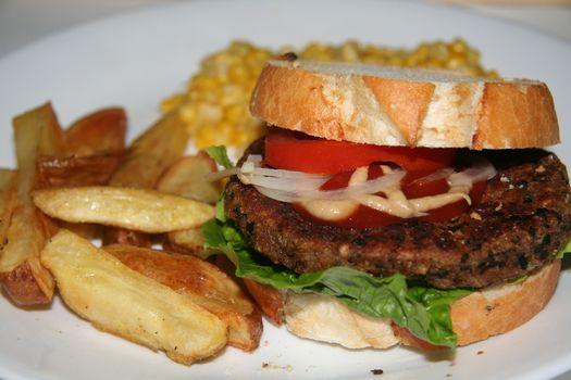 Marvellous mushroom burger