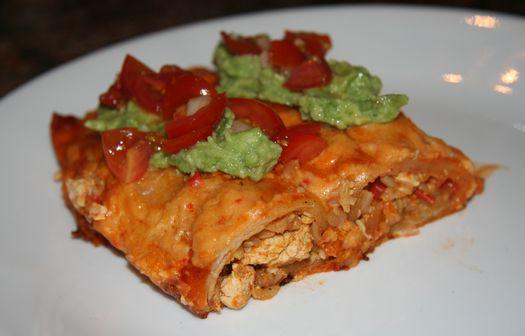 Vegetable & tofu enchiladas