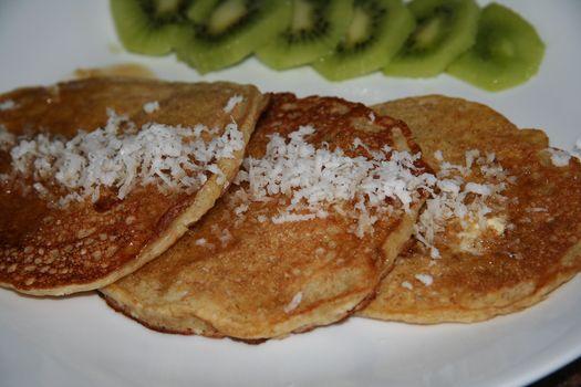 Coconut orange pancakes