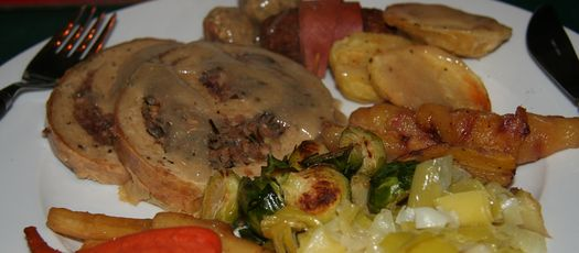 Vegan Christmas dinner 2009 2
