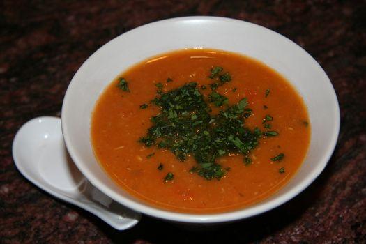 Red lentil soup2
