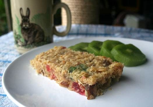 Coconut cherry flapjack