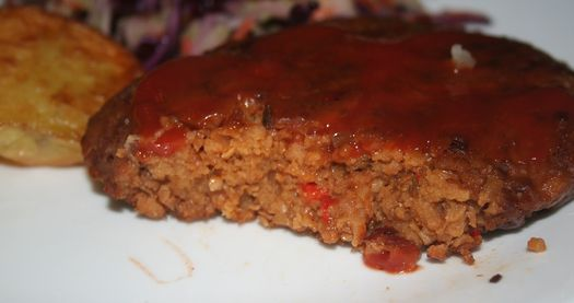 Vegan hamburger steak 2