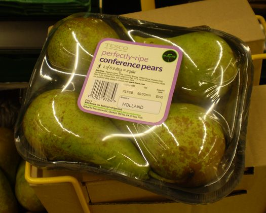 overpackaged pears