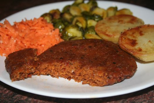 Vegan hamburger steak